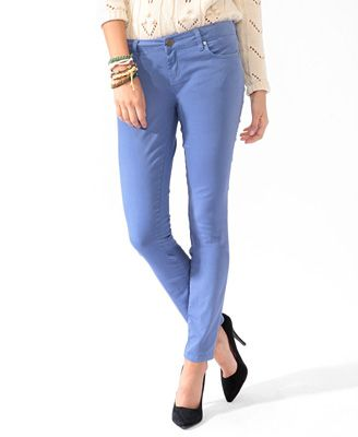 Life In Progress™ Zip Pocket Colored Skinny Jeans | FOREVER21 - 2008586121