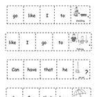 Kindergarten Sight Word Practice Cut-and-Glue Sentences-20