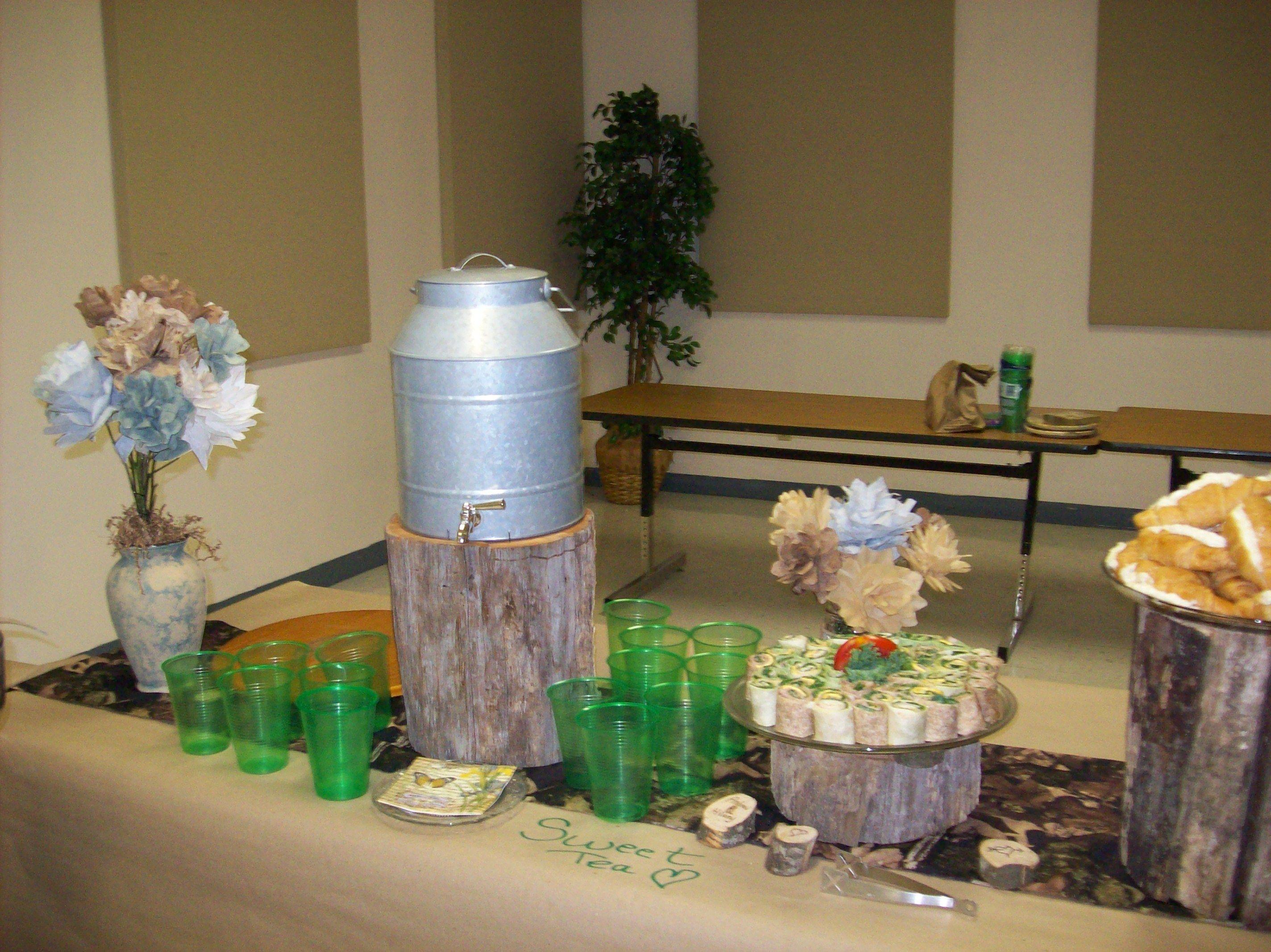 Wolfe rustic wedding shower/ flowers custom dyed and handmade