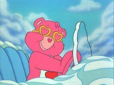 Image via We Heart It https://weheartit.com/entry/27089027/via/15108490 #90's #90s #bear #carebears #cartoon #childhood #cute #glasses #pink