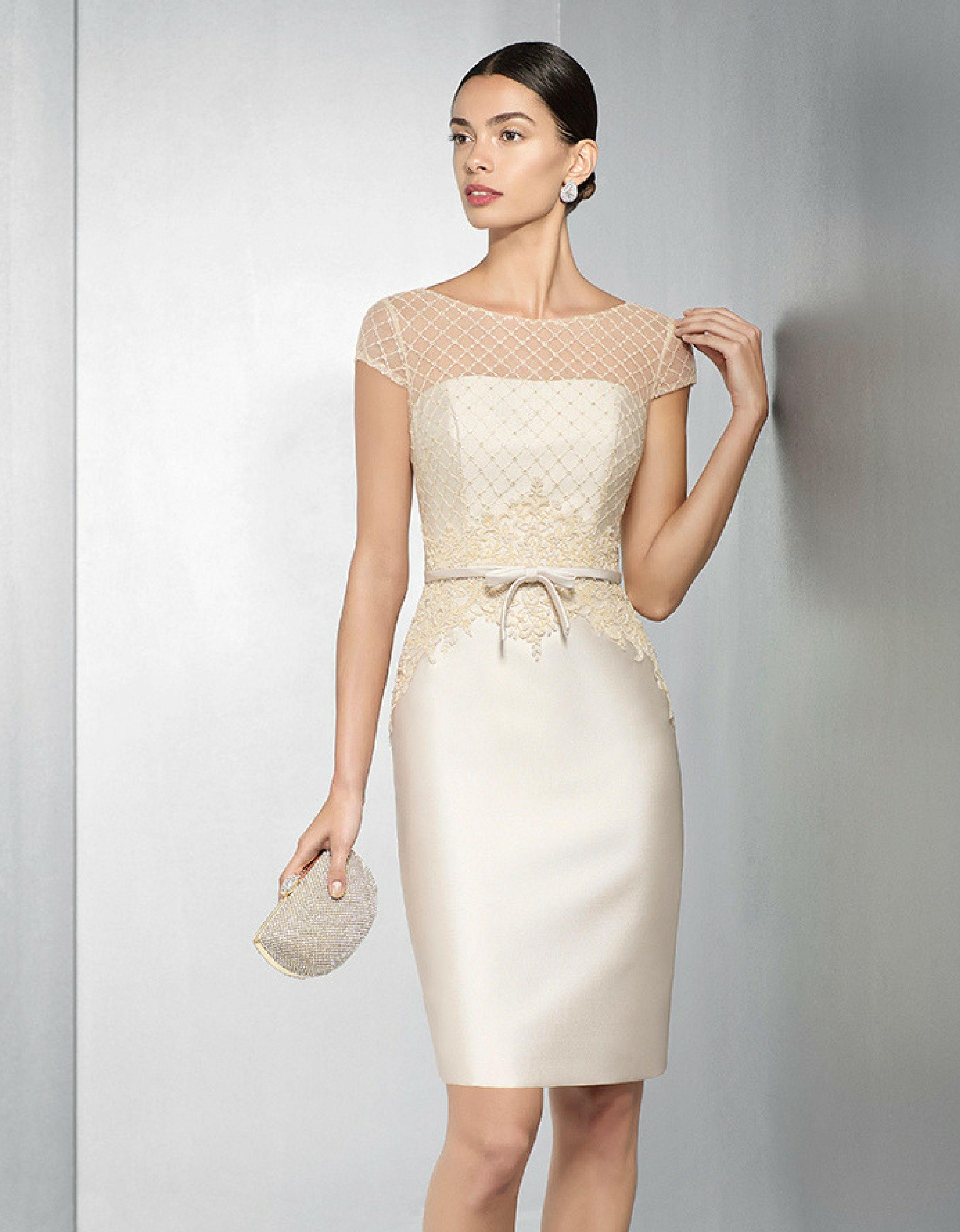 50430a5b8 Vestidos de fiesta color champagne cortos – Vestidos de boda