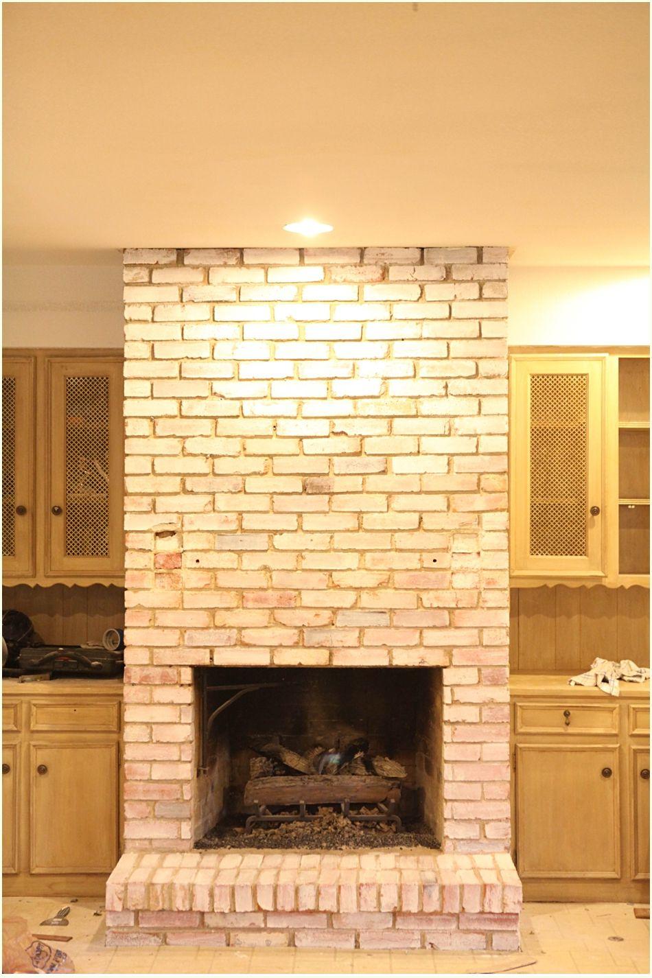 DIY White Washing Fireplace | Kitchen Ideas | Pinterest | Bricks ...