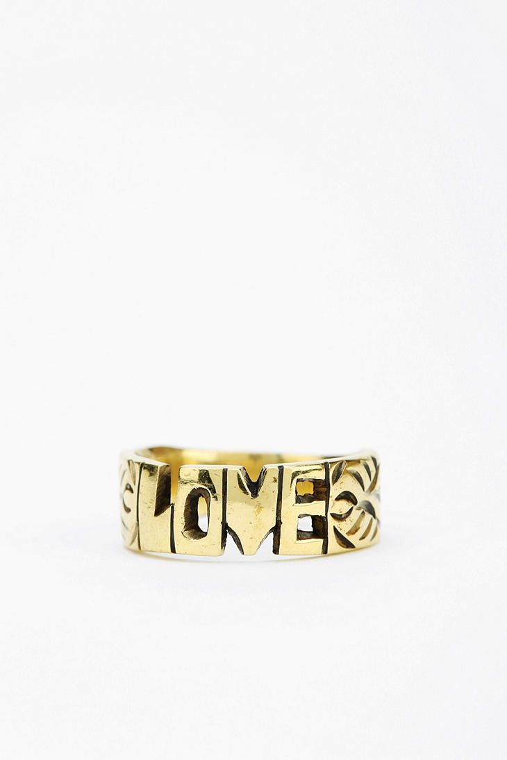 Jenus pirate booty word ring online only urban outfitters