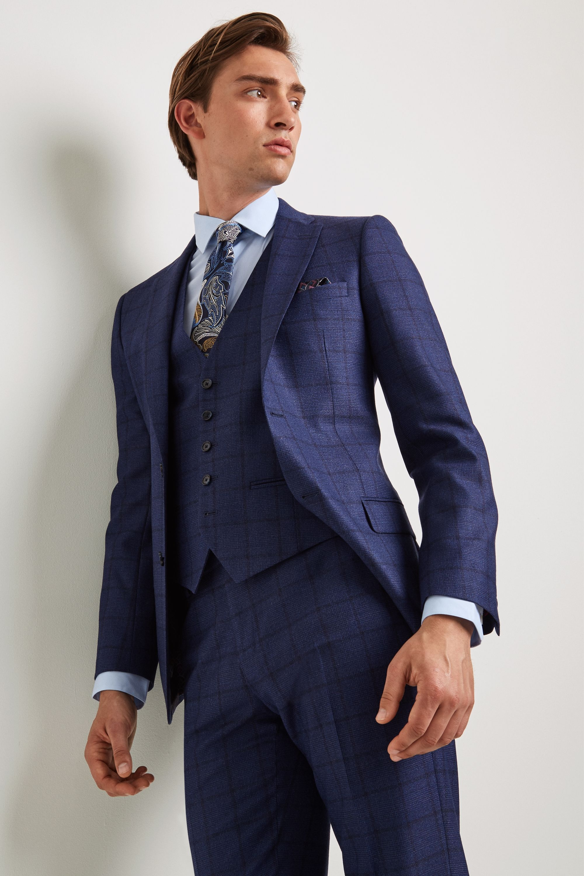 8aedd4e1b Bold check jacket in a flattering tailored fit With a signature Ted Baker  printed lining