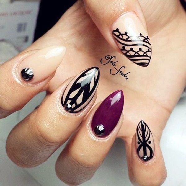 Pointy Almond Nail Designs worth Trying