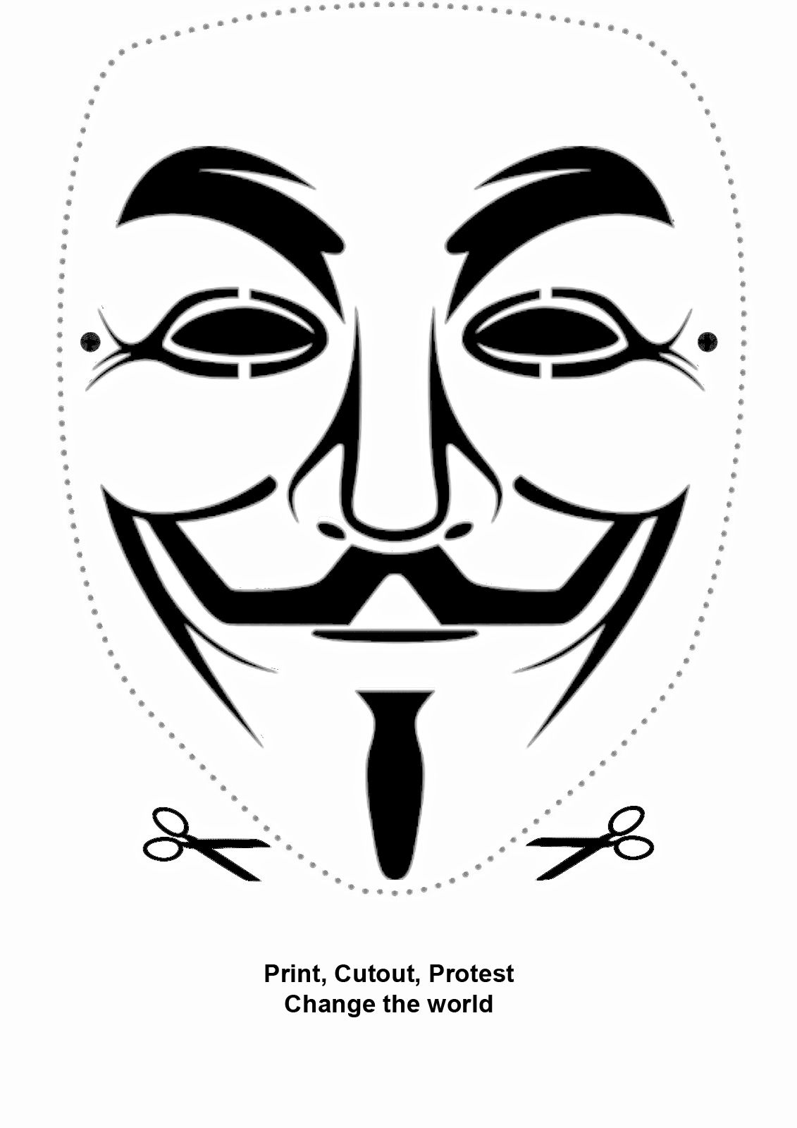 Guy Fawkes Mask Paper Cutout Guy Fawkes Mask Guy Fawkes Face Stencils Anonymous mask guy white car road