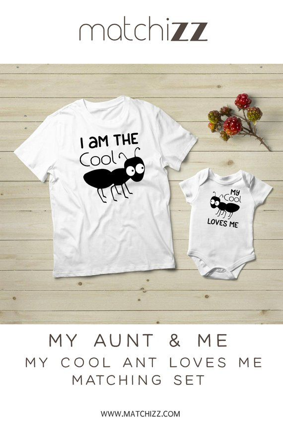 b35394fe Cool Aunt Shirt Niece Pun Ant Matching Baby Bodysuit Baby Shower Gift Aunt  Gift Auntie Niece and Nep