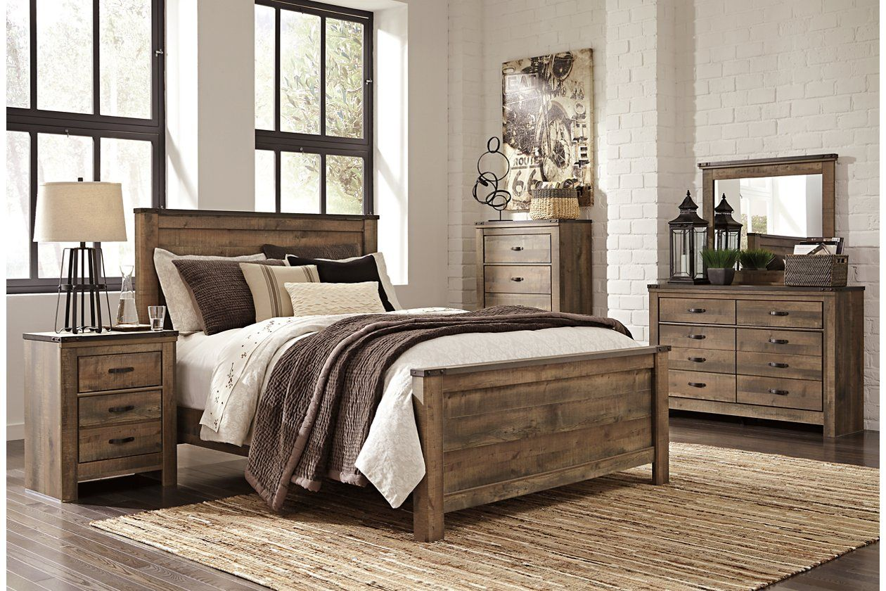 Trinell Queen Panel Bed Ashley Furniture Homestore Bedroom Sets Queen King Bedroom Sets Bedroom Furniture Sets
