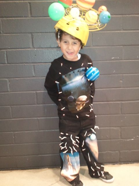 Outer space costume with planets and battery powered for Outer space outfit