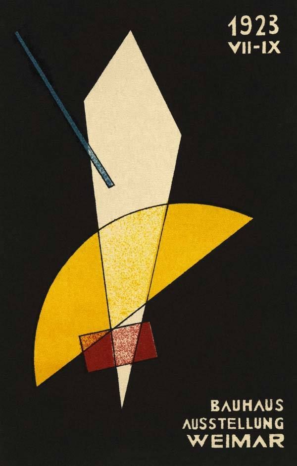 German Bauhaus Design Poster 1923 Premium Canvas Giclee Print 24x34 in.