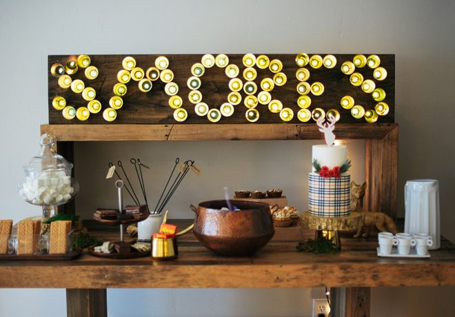 DIY S'mores and Hot Chocolate Bar via Evite's Top Party Pro - Cast Your Vote!