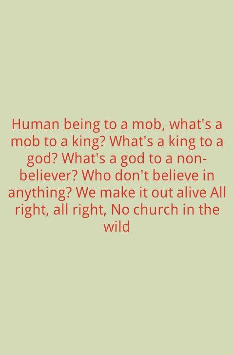 Jay z & Kanye - No church in the wild - lyrics