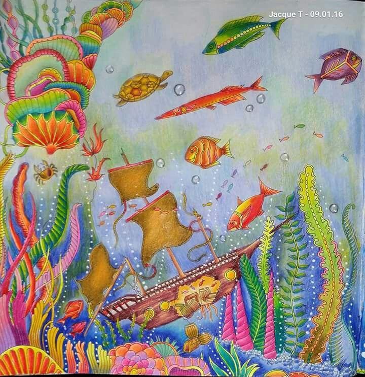 Pin By Ucpharmd 13 On Coloring Lost Ocean Lost Ocean Johanna Basford Lost Ocean Basford
