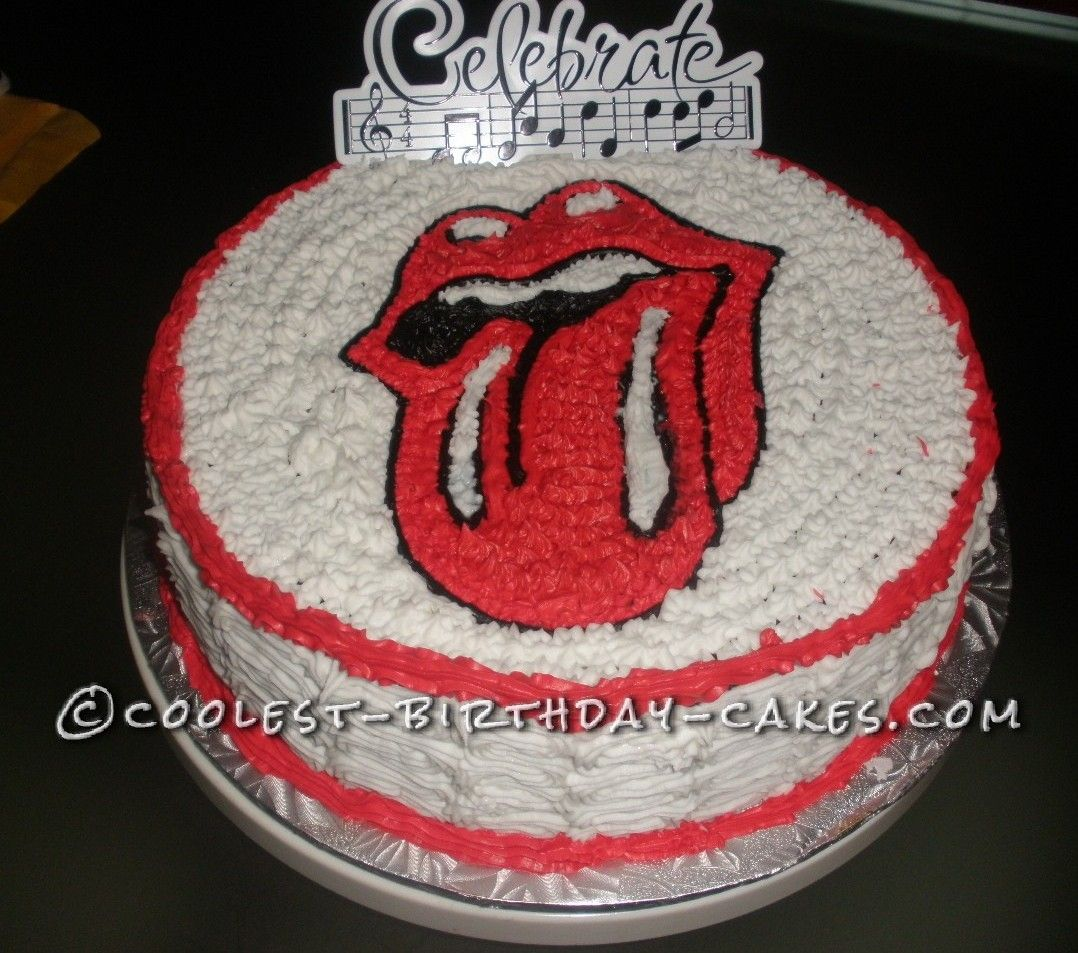 Coolest Rolling Stones Tongue Logo Cake Rolling stones Birthday