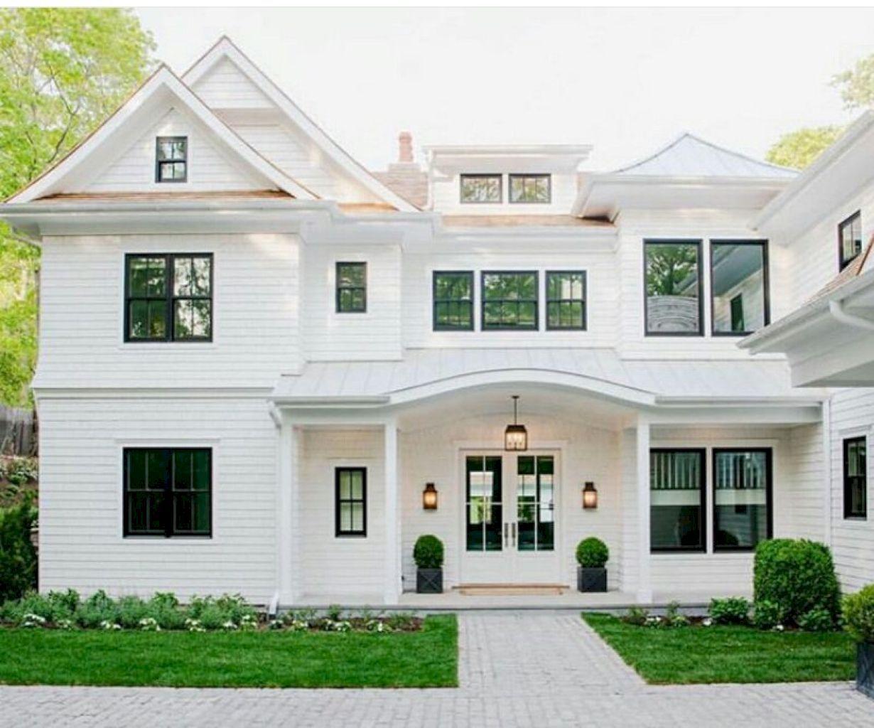 45 Modern Farmhouse Exterior Design Ideas | Modern farmhouse ...