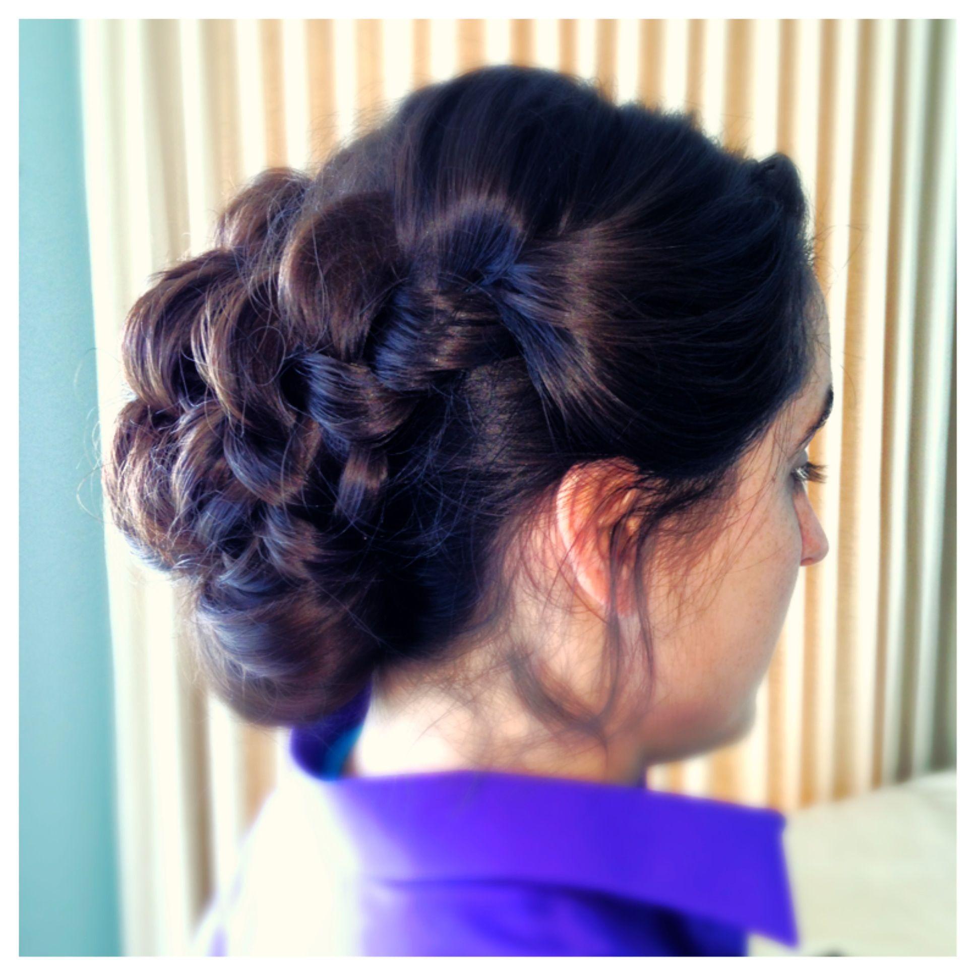 bridal bridesmaid wedding hair updo by jillian jensen makeup