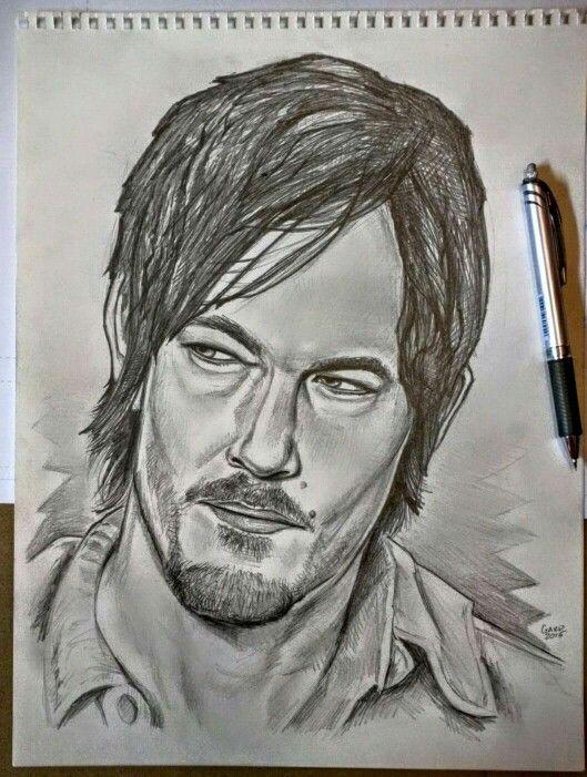 Daryl Dixon Sketch   11X14 Pencil Sketches   Pinterest