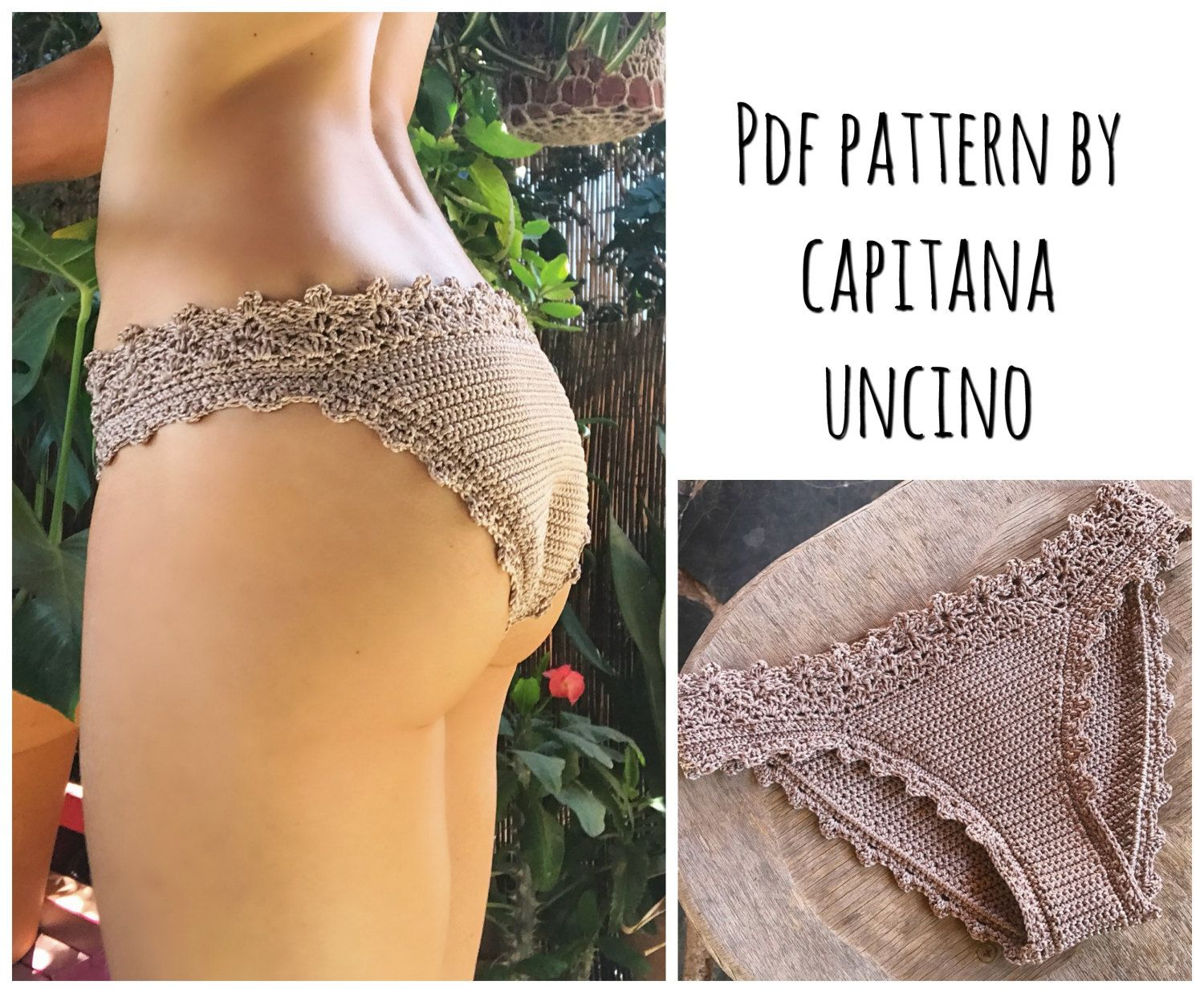 PDF-file for Crochet PATTERN, Lorelei Crochet Bikini Bottom, Basic ...
