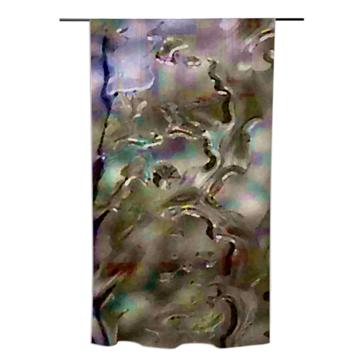 Purple Rain JC Cotton Curtain from Print All Over Me