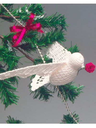 Crocheted Dove Holidays Crochet Christmas Ornaments