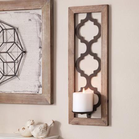 Better Homes And Gardens Quatrefoil Wall Sconce Bronze Walmart