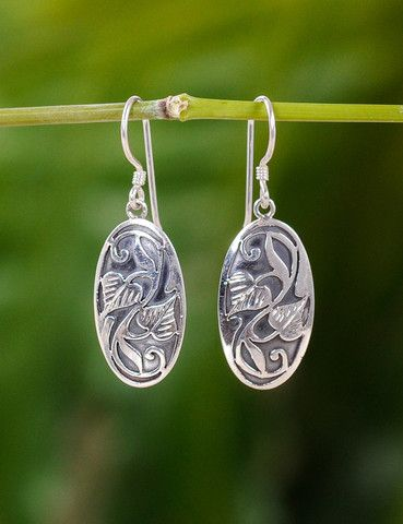 Sivana — Swirling Bodhi Silver Earrings
