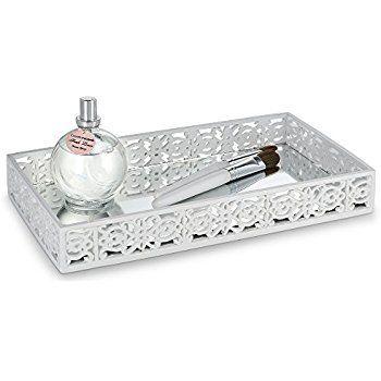 Dwellza Mirror Janette Vanity Mirror Tray for Dresser (11 ...