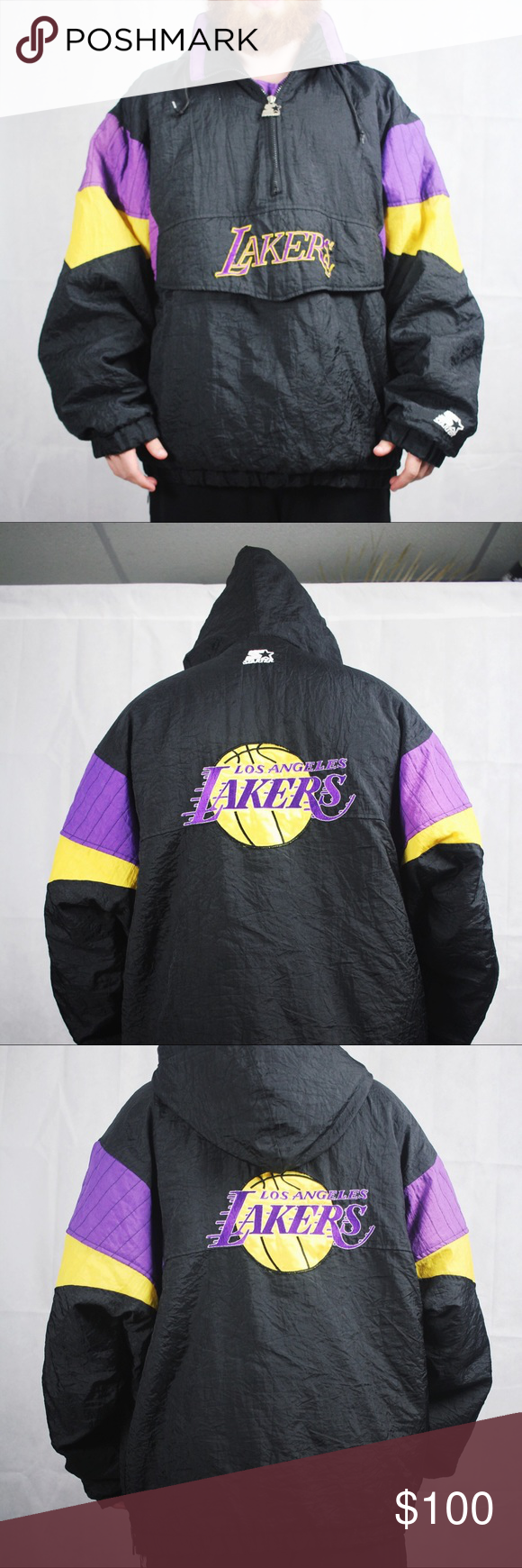 Vintage L.A. Lakers Starter Hooded Puffer Jacket *inspect all photos before purchase please!* Brand: Starter Decade: 00s Size: L Shown on size: M Smoke Free Home Measurements Upon Request Ships within 3 business days. Stay Rad ::) *not supreme* Supreme Jackets & Coats Puffers