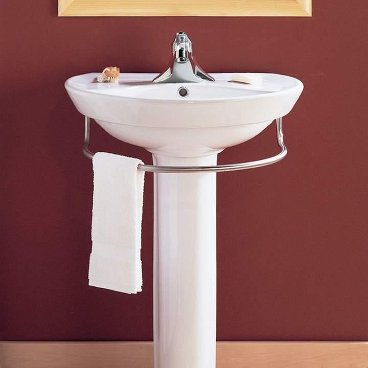 Ravenna Vitreous China U Shaped Pedestal Bathroom Sink With