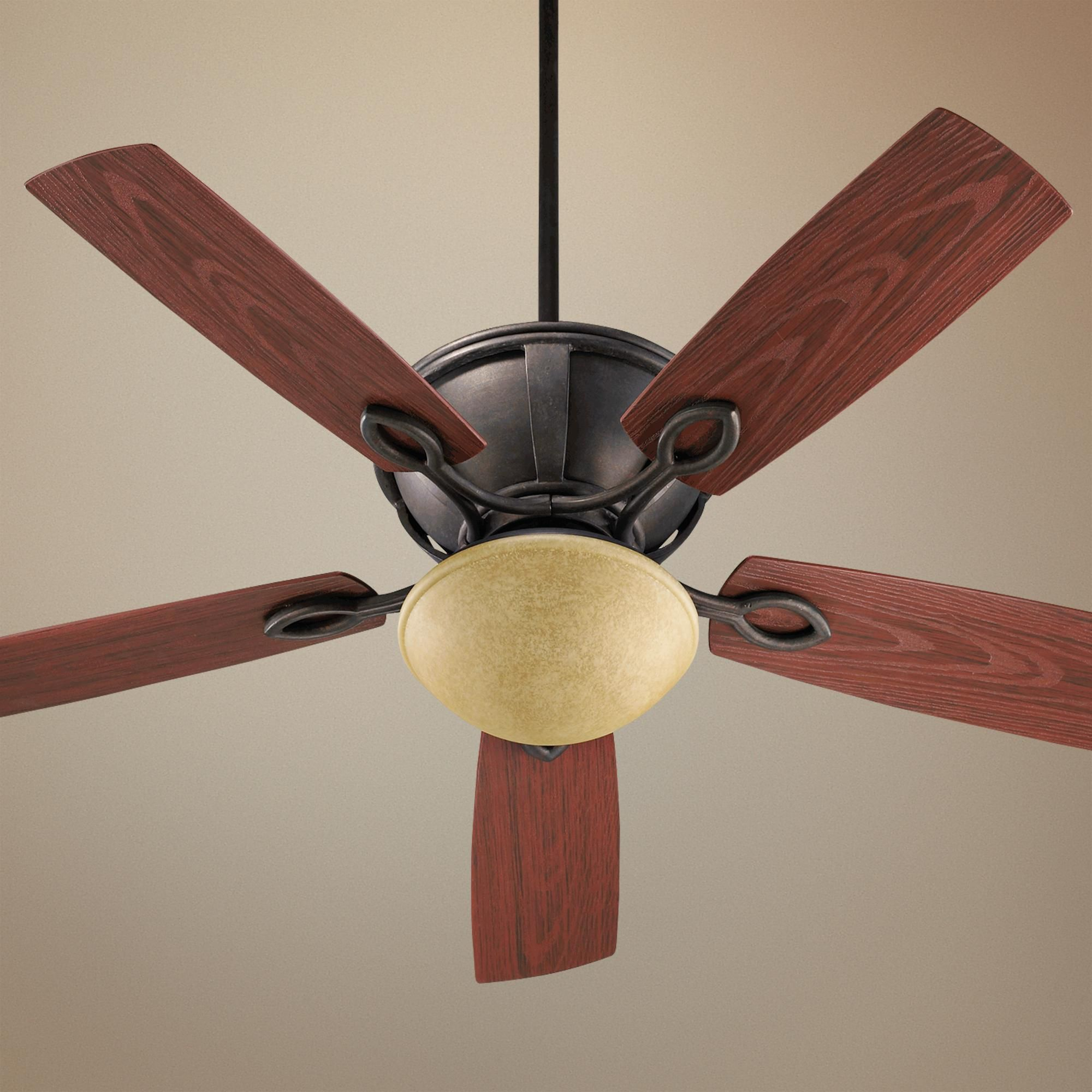 52 Quorum Stanton Sienna Patio Ceiling Fan With Light Kit