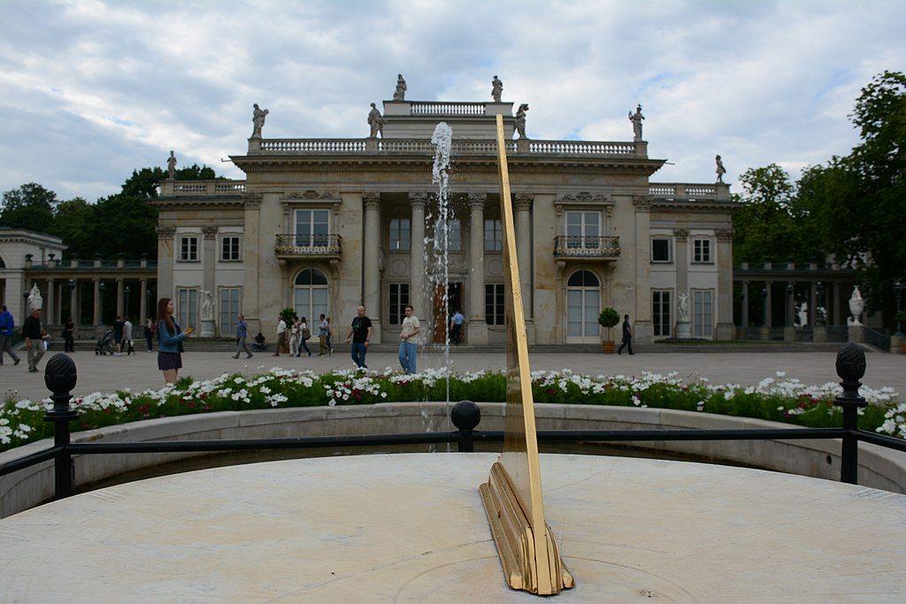 Pałac Na Wodzie łazienki Królewskie W Warszawie Południowa