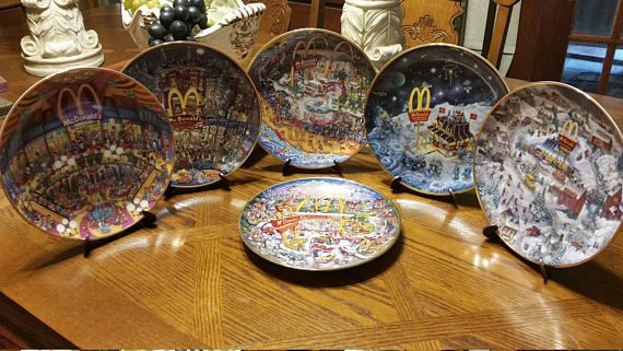 Items similar to McDonalds Collector Plates Set of Six Plates Bill Bell With Plate Stands on Etsy & McDonalds Collector Plates Set of Six Plates Bill Bell With Plate ...