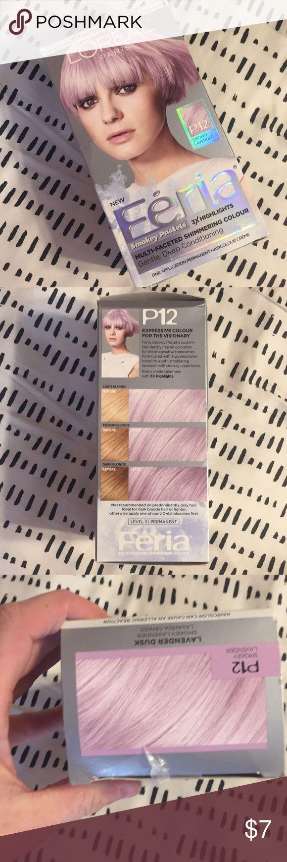 L Oreal Feria Smokey Lavender Haircolor Dye Brand New Unopened Box Of L O Modern Pastel Purple Hair Pastel Hair Lavender Hair
