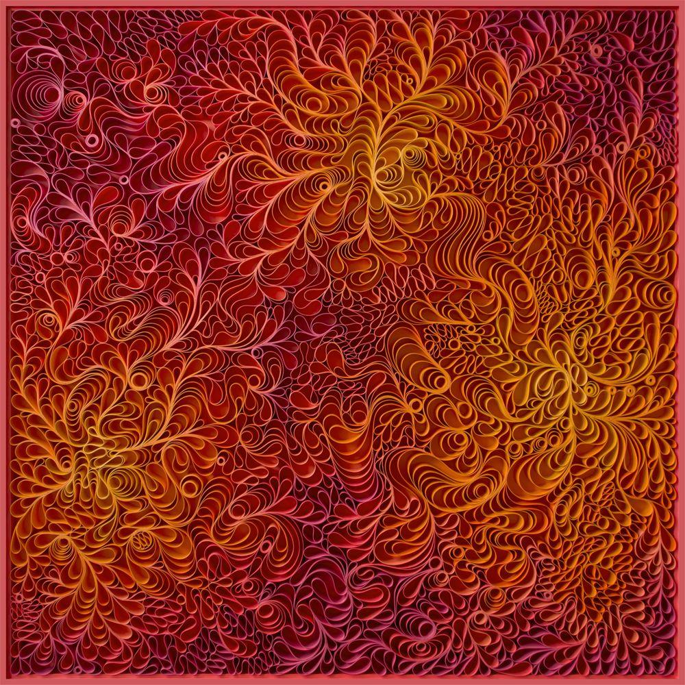 stallman, Original artwork, sculpture, seattle, jason hallman, stephen stum, orange, mid century, fire, warm color, hot pink artwork, art miami