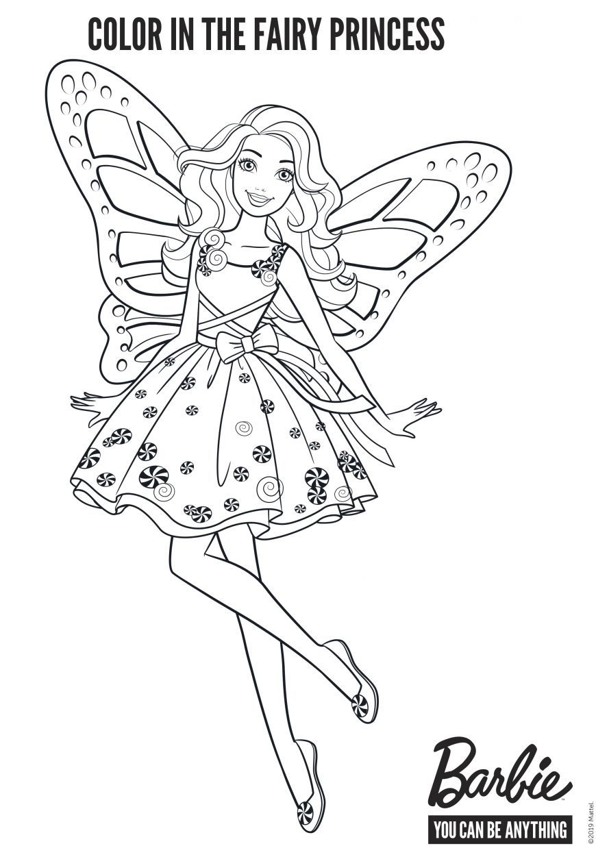 Decorate Barbie Fairy In 2020 Barbie Coloring Pages Fairy Coloring Cinderella Coloring Pages In 2021 Fairy Coloring Barbie Coloring Pages Cinderella Coloring Pages