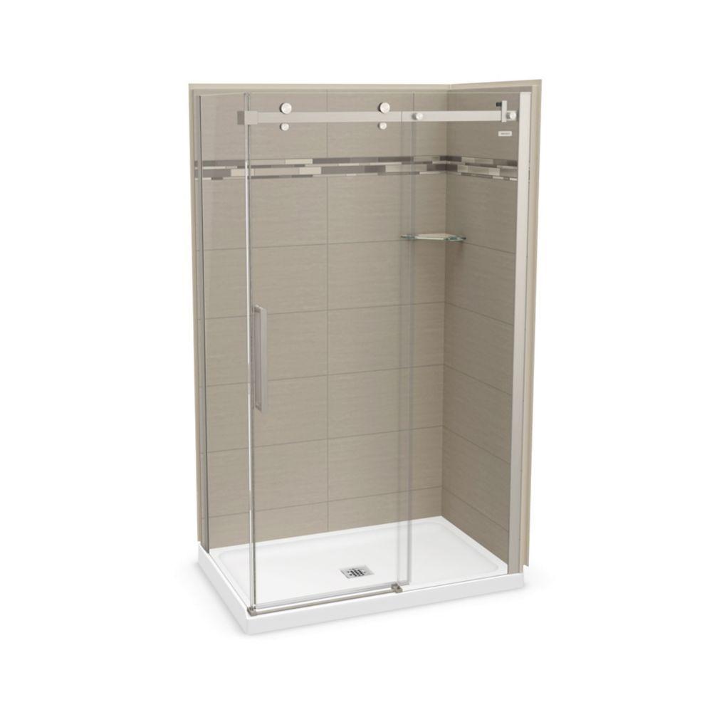 Utile 48 Inch X 32 Inch Origin Greige Corner Shower Kit With