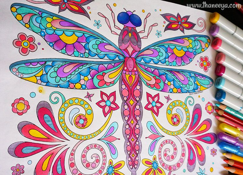 Dragonfly Coloring Page From Thaneeya McArdles Groovy Animals Pages Printable PDF E Book