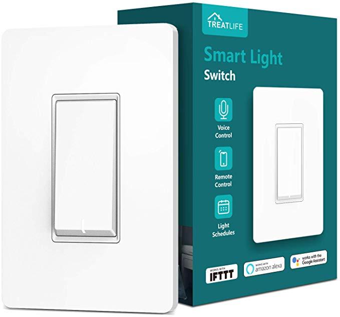 Treatlife Smart Light Switch, Neutral Wire Needed, 2.4Ghz