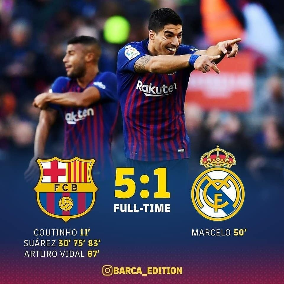 Barca Vs Real Madrid 5 1 Highlights