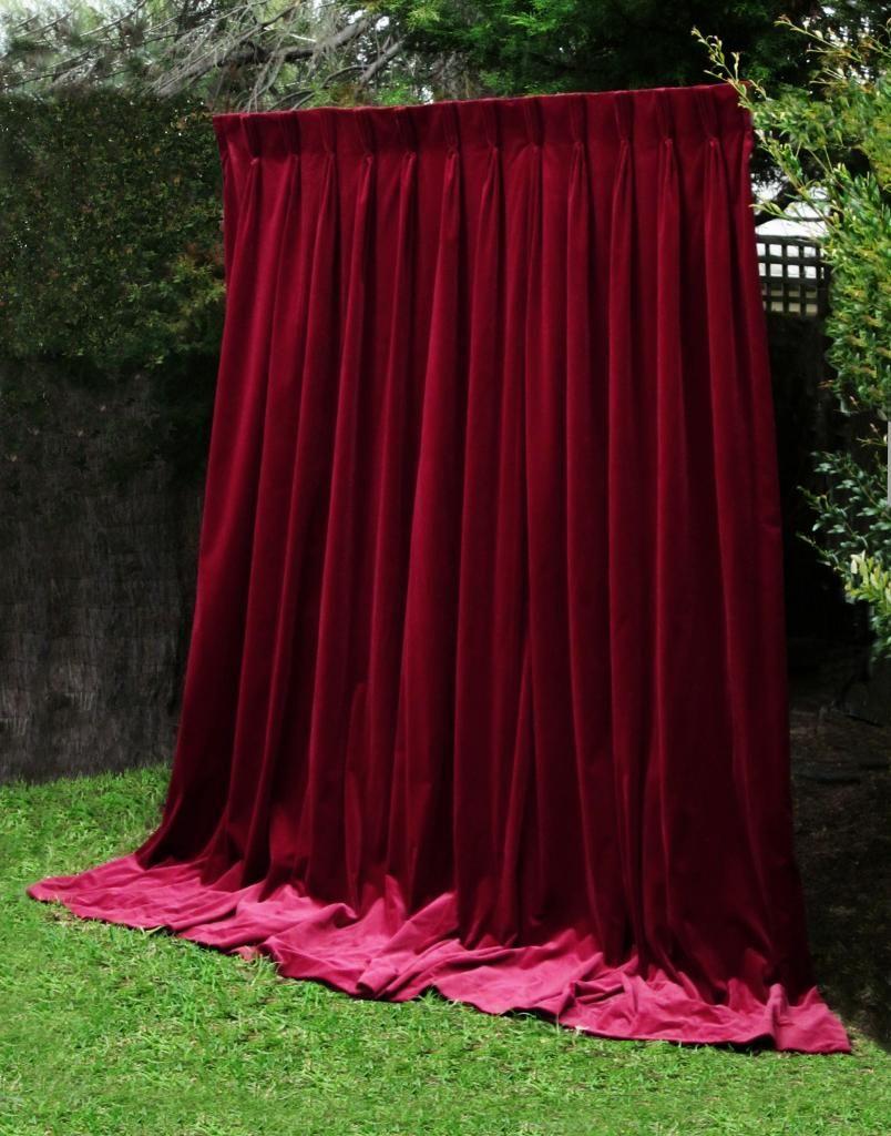 Gothic Paris Apt Heavy Thick Real Vintage Velvet Curtain