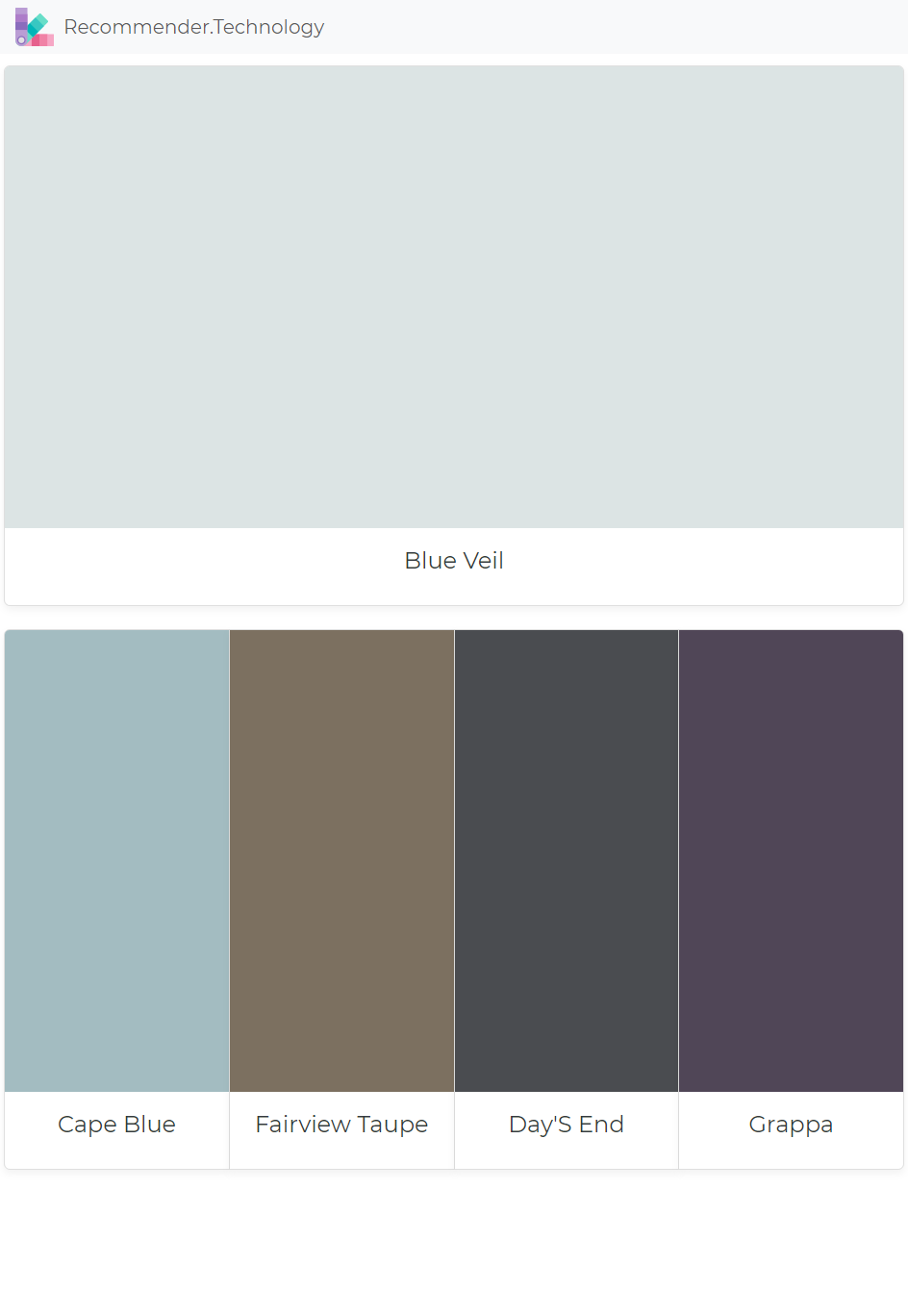 Blue Veil Cape Blue Fairview Taupe Day S End Grappa Exterior House Colors Benjamin Moore Colors Perfect Paint Color
