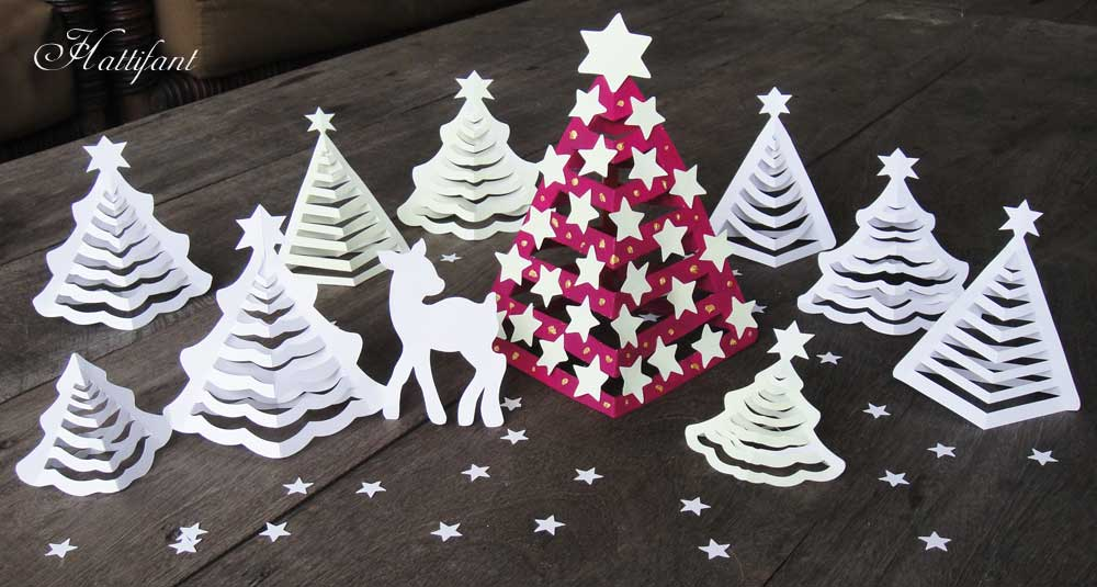 Hattifant S 3d Paper Christmas Trees Hattifant Christmas Tree Paper Craft 3d Christmas Tree Paper Christmas Tree