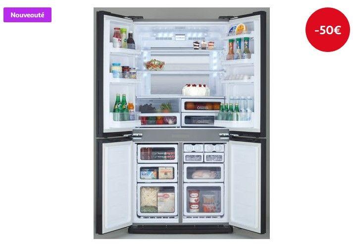 Réfrigérateur Portes SHARP SJEXFSL L Pas Cher Froid No - Refrigerateur 4 portes