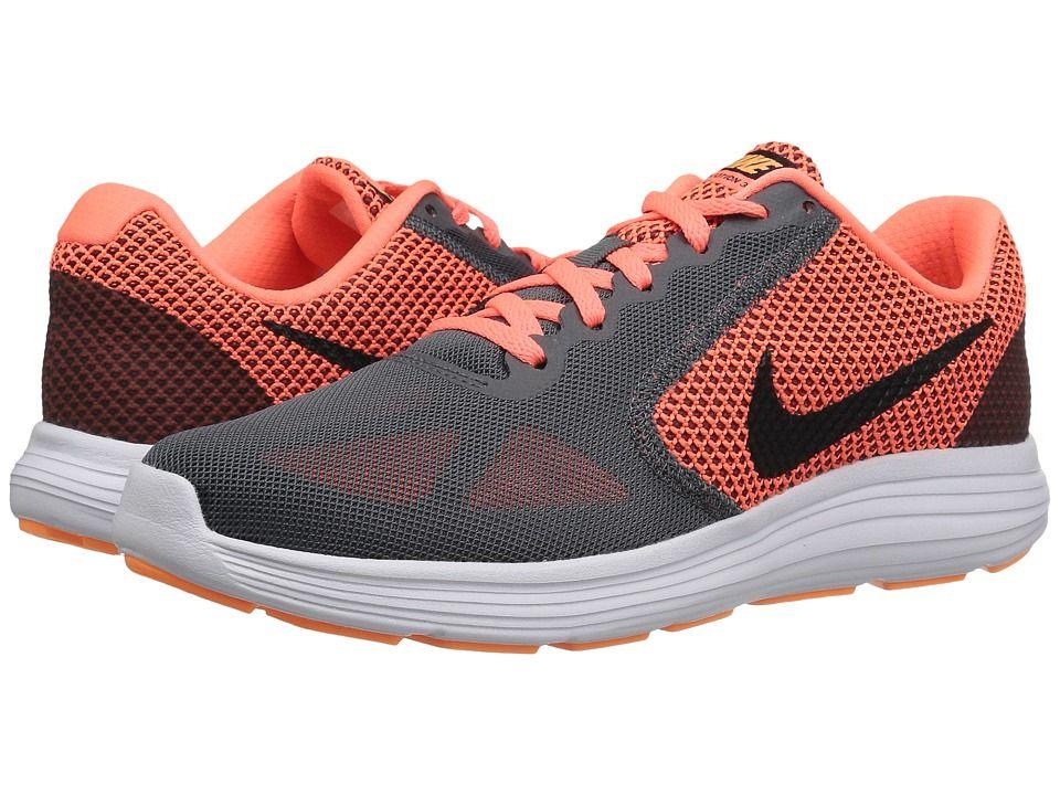 Cheap Sale Womens Athletic Shoes - Nike Revolution 3 Dark Grey/Bright Mango/Peach Cream/Black