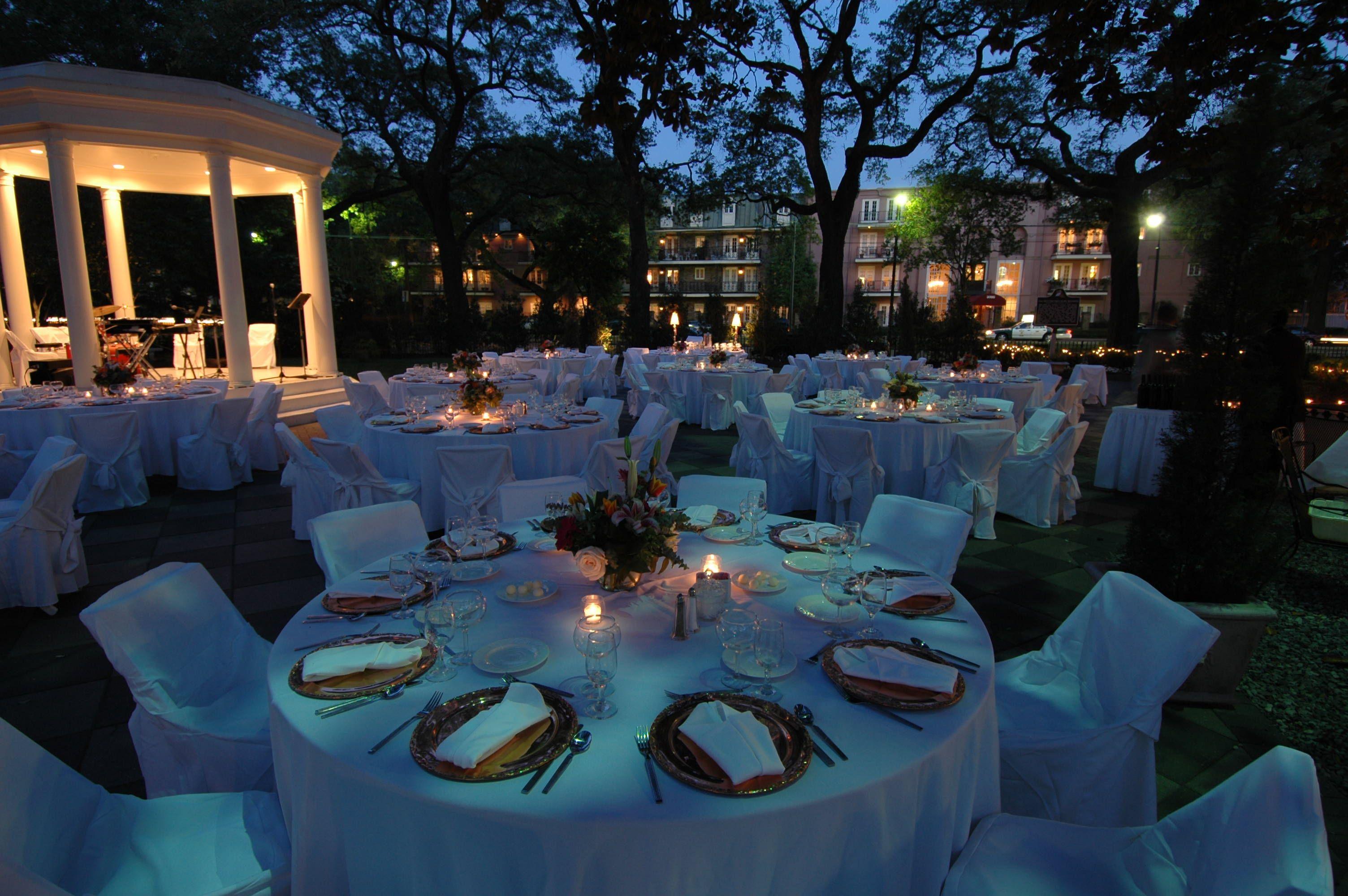 Attractive Candlelit Wedding Reception Photos Blue Wedding Color