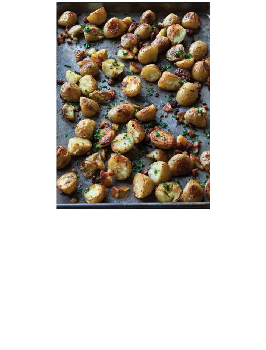 crispy english potatoes from barefoot contessa foolproof. awesome