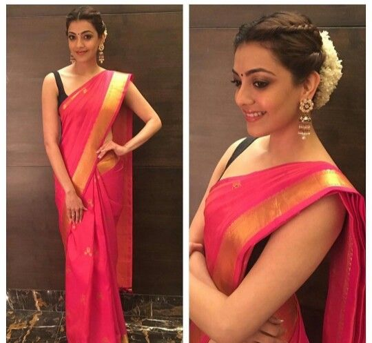 Kajal Aggarwal In Traditional Look South Indian Hairstyle South Indian Wedding Hairstyles Traditional Hairstyle