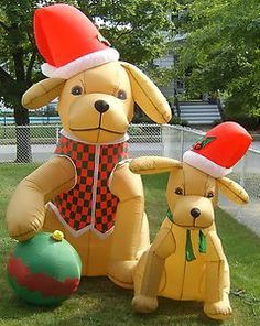 Christmas Inflatable Dogs Google Search