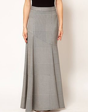 79fe91602 Aumentar Falda larga con diseño de pata de gallo de ASOS | Moda De ...