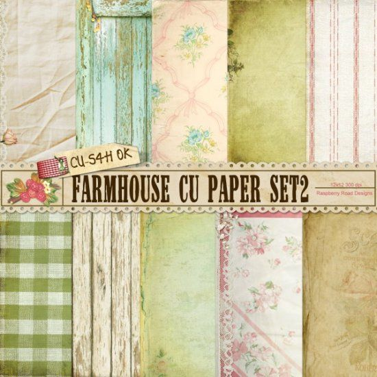 Farmhouse CU Paper Set 2 Printed Tangible items only.